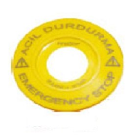 Acil Durdurma + Emergency Stop Pls. Etiket Ø60mm